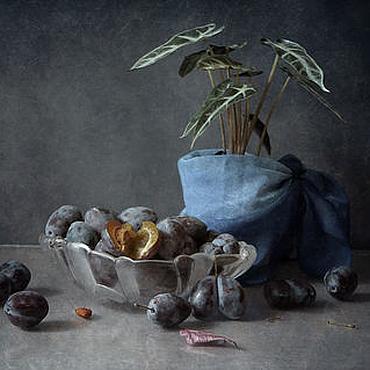 Картины и панно ручной работы. Ярмарка Мастеров - ручная работа Натюрморт Синее на синем. Handmade.