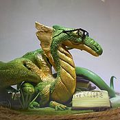 Куклы и игрушки ручной работы. Ярмарка Мастеров - ручная работа магический дракон. Handmade.