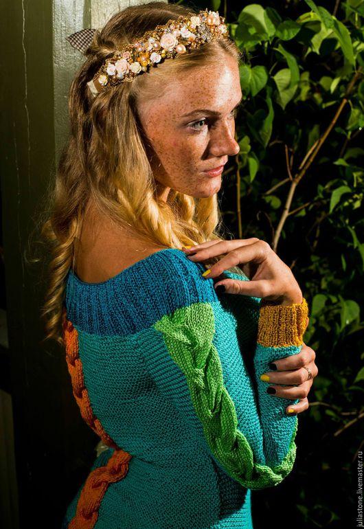 """Кофты и свитера ручной работы. Ярмарка Мастеров - ручная работа. Купить Весенне-Летний пуловер""""""""Все цвета Гармонии"""""""". Handmade. Разноцветный"""