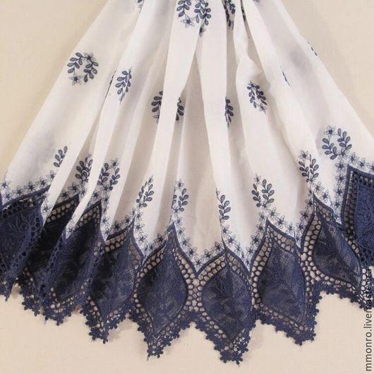 Шитье ручной работы. Ярмарка Мастеров - ручная работа. Купить Эксклюзивное шитье 100% хлопок, Эдельвейс. Handmade. Ткань