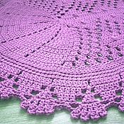 Для дома и интерьера handmade. Livemaster - original item Crocheted oval rug from cord purple Rhombus. Handmade.