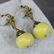 Украшения handmade. Livemaster - original item Earrings made of natural kalarit(hilarit). Handmade.