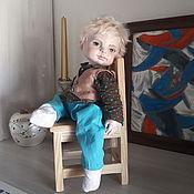 Куклы и игрушки handmade. Livemaster - original item boudoir doll: Doll made of polymer clay angel with birds. Handmade.