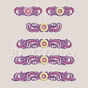 "Материалы для творчества handmade. Livemaster - original item Machine embroidery designs set of delicate curbs ""Marya"". Handmade."