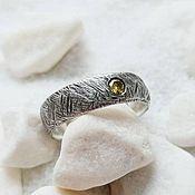 Украшения handmade. Livemaster - original item Silver ring with honey cubic Zirconia. Handmade.