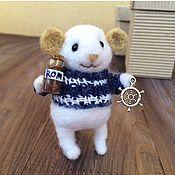 Куклы и игрушки ручной работы. Ярмарка Мастеров - ручная работа Мышка морячок. Handmade.