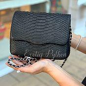 Сумки и аксессуары handmade. Livemaster - original item Python skin bag Dina. Handmade.