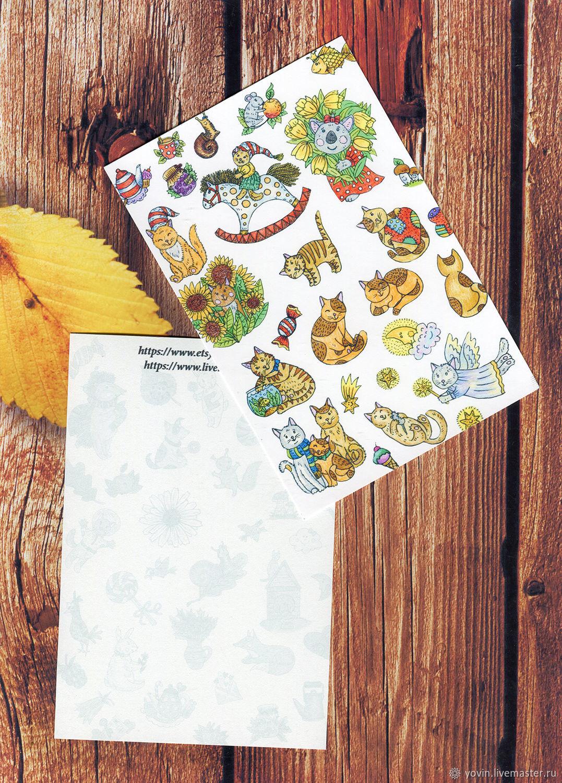 открытки для посткроссинга набор традиционный десерт, который