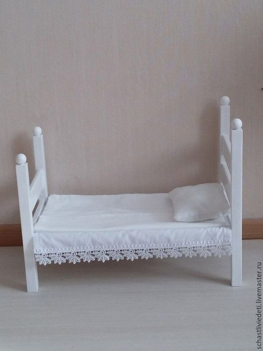 Кукольный дом ручной работы. Ярмарка Мастеров - ручная работа. Купить Кроватка. Handmade. Кровать из дерева, кровать - люлька, колыбель