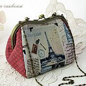 Сумки и аксессуары handmade. Livemaster - original item Handbag with Clasp, the Romance of Paris, a Large Cosmetic bag. Handmade.