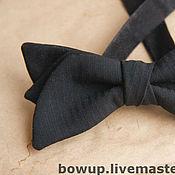 Аксессуары ручной работы. Ярмарка Мастеров - ручная работа Черный галстук-бабочка. Handmade.