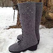 """Обувь ручной работы. Ярмарка Мастеров - ручная работа Валяные сапожки """"Виолетта"""". Handmade."""