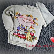 Работы для детей, ручной работы. Ярмарка Мастеров - ручная работа свитер для малышки. Handmade.