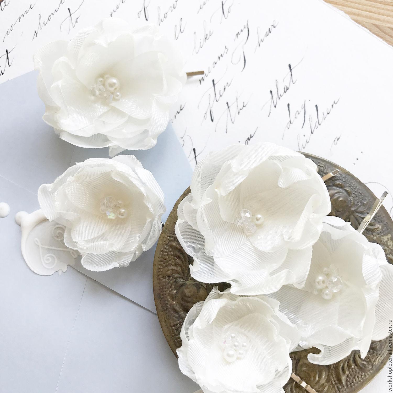 Купить свадебные цветы для прически — 12