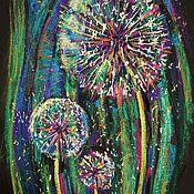 Картины и панно handmade. Livemaster - original item painting Dandelions. Flowers. Pastel. Handmade.