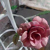 Столы ручной работы. Ярмарка Мастеров - ручная работа Столик этажерка с розами. Handmade.