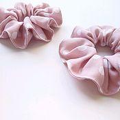 Комплекты украшений ручной работы. Ярмарка Мастеров - ручная работа Комплекты украшений: Резинки для волос в горошек розовая. Handmade.