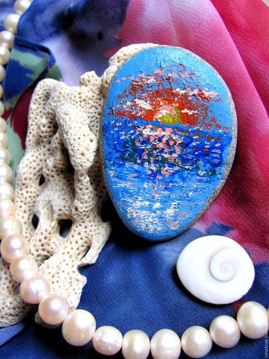 Море.Восход.Картина,роспись на камне Катерины Аксеновой.картина на камне,роспись на камне,роспись на камнях,морской пейзаж.картина на камне,роспись на камне,роспись на камнях,морской пейзаж.,купить ро