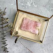 Материалы для творчества handmade. Livemaster - original item Gouache scraper rose quartz. Handmade.