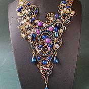 Украшения handmade. Livemaster - original item Necklace Night Lilac. Handmade.