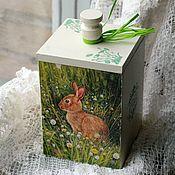Для дома и интерьера handmade. Livemaster - original item Container box for bulk products Bunny. Handmade.