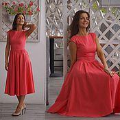 Одежда ручной работы. Ярмарка Мастеров - ручная работа Платье Адель - платье миди. Handmade.