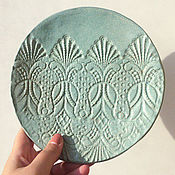"""Посуда ручной работы. Ярмарка Мастеров - ручная работа Тарелка """" Кружева"""". Handmade."""