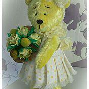Куклы и игрушки ручной работы. Ярмарка Мастеров - ручная работа Тедди девочка  Лимоночка. Handmade.