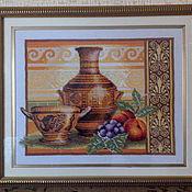 """Картины и панно ручной работы. Ярмарка Мастеров - ручная работа Вышитая картина """"Греческий полдень"""". Handmade."""
