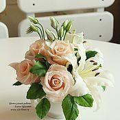 Цветы и флористика ручной работы. Ярмарка Мастеров - ручная работа Букет с лилией. Handmade.