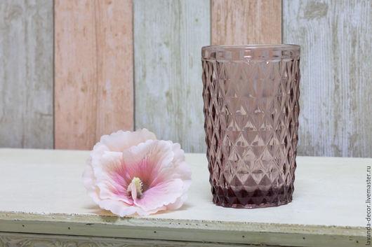 Стаканы для воды из цветного стекла