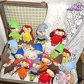 Куклы и игрушки ручной работы. Ярмарка Мастеров - ручная работа текстильная сувенирная куколка Гном))). Handmade.