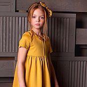 """Работы для детей, ручной работы. Ярмарка Мастеров - ручная работа Платье трикотажное+ободок """"Mimoza"""". Handmade."""