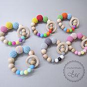 Работы для детей, handmade. Livemaster - original item gryzunki: Juniper teether with a ring and silicone beads. Handmade.