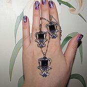 "Украшения handmade. Livemaster - original item Set ""Sapphire dreams"" from 925 sterling silver. Handmade."