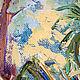 """Пейзаж ручной работы. """"Тропики. Утро на террасе"""" авторская картина маслом на холсте. ЯРКИЕ КАРТИНЫ Наталии Ширяевой. Ярмарка Мастеров."""