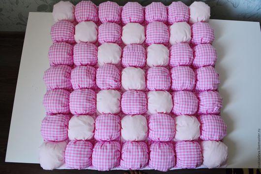 Пледы и одеяла ручной работы. Ярмарка Мастеров - ручная работа. Купить Коврик бомбон. Handmade. Розовый, холлофайбер, одеяло для новорожденного