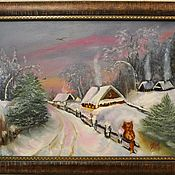 Картины и панно handmade. Livemaster - original item Pictures: Village history. Handmade.