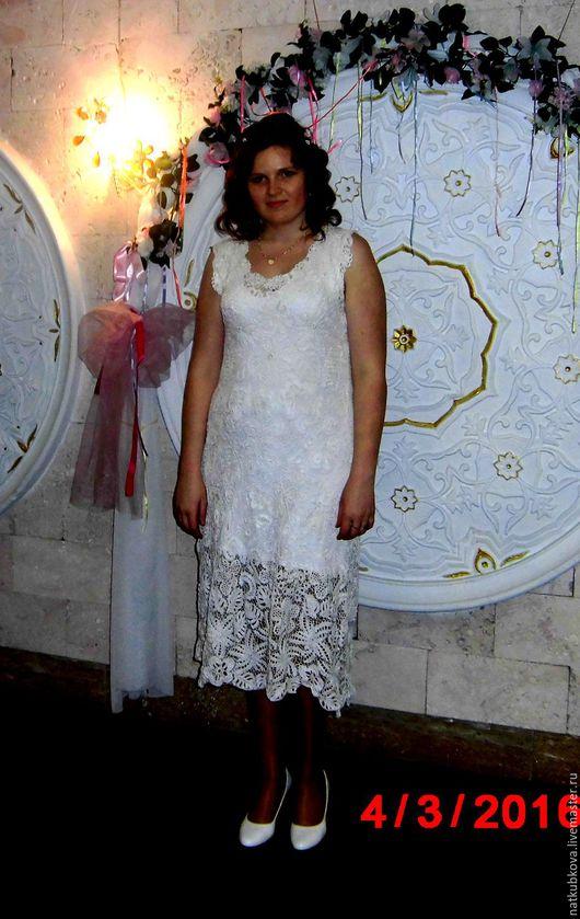 """Платья ручной работы. Ярмарка Мастеров - ручная работа. Купить Платье вязаное """"Невестка"""". Handmade. Ирландское кружево, платье на заказ"""