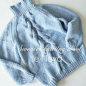Свитеры ручной работы. Ярмарка Мастеров - ручная работа Уютный мягкий свитер голубого цвета. Handmade.