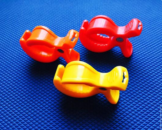 Шитье ручной работы. Ярмарка Мастеров - ручная работа. Купить Большие зажимы, клипсы, прищепки для игрушек, растяжек, коляски. Handmade.