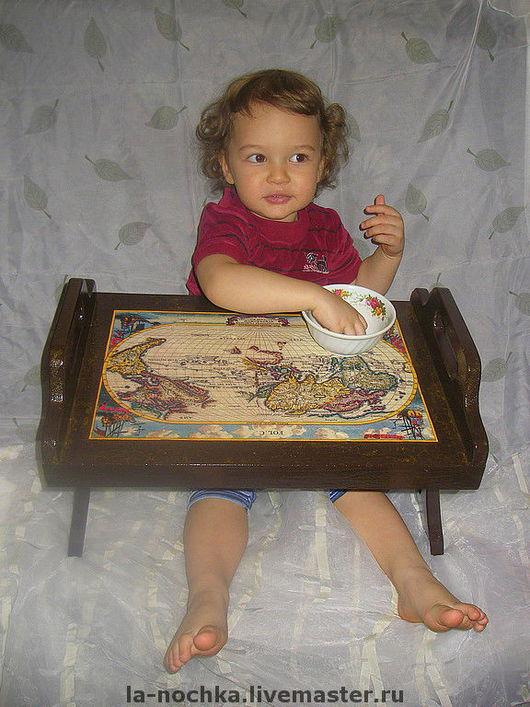 """Мебель ручной работы. Ярмарка Мастеров - ручная работа. Купить Столик для завтрака """"Часть света"""". Handmade. Столик для завтрака"""