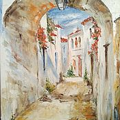 Картины и панно handmade. Livemaster - original item Oil painting Old street of Italy. Handmade.