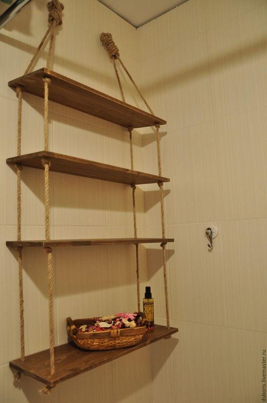 Ванная комната ручной работы. Ярмарка Мастеров - ручная работа. Купить Полка в ванную комнату. Handmade. Полка из дерева, полка