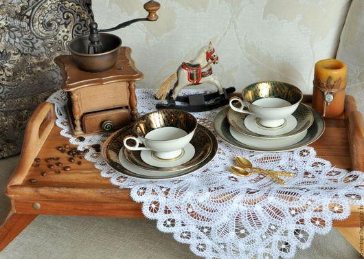 Винтажная посуда. Ярмарка Мастеров - ручная работа. Купить Винтажные Чайные трио 2 шт.. Handmade. Фарфоровая посуда