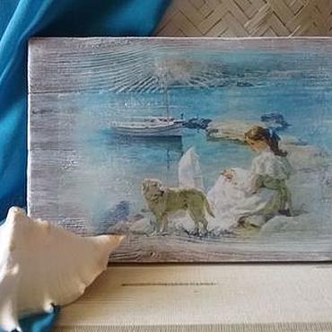 Картины и панно ручной работы. Ярмарка Мастеров - ручная работа Панно интерьерное На берегу моря. Handmade.