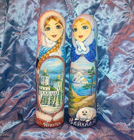 Подарочное оформление бутылок ручной работы. Ярмарка Мастеров - ручная работа. Купить Штоф Снегурочка. Handmade. Штоф, бутылка, дерево