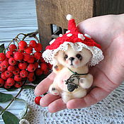 Куклы и игрушки ручной работы. Ярмарка Мастеров - ручная работа Мишутка Мухоморчик. Handmade.