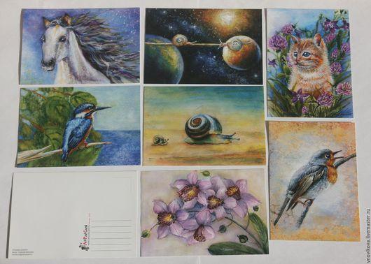 """Открытки на все случаи жизни ручной работы. Ярмарка Мастеров - ручная работа. Купить набор открыток """" Мои фантазии """". Handmade."""