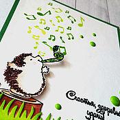 """Открытки ручной работы. Ярмарка Мастеров - ручная работа """"Зеленая музыка лета"""" открытка. Handmade."""